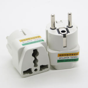 Universal Euro Travel Plug Adapter 4.8mm EU Plug 10A 250V AC Converter Plug pictures & photos