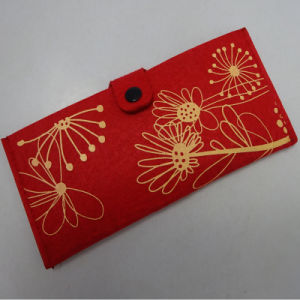 High Quality Natural Fashion Woolen Felt Travel Ticket Wallets pictures & photos