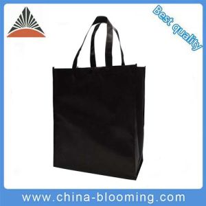 Black Recycle Handle Carrier Packing Non-Woven Promotion Bag pictures & photos