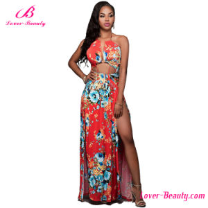 Boho Long Printed Maxi Women Dress pictures & photos
