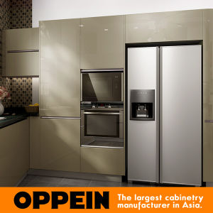 Oppein Modern Green Golden Silver-Flashing Kitchen Cabinet (OP16-L26) pictures & photos