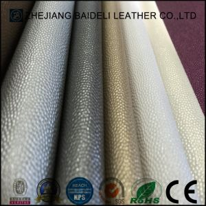 Metallic Surface PVC PU Synthetic Leather for Furniture Upholstery and Home Soft Decoration pictures & photos