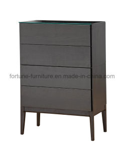 Wooden Chest of Drawers with Termpered Glass and Solid Wood Plinth (N combination 10)