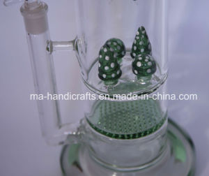 Hot Sale Mushroom Smoking Water Pipes Honeycomb Percolator Glass Bubbler Tobacco Pipes pictures & photos