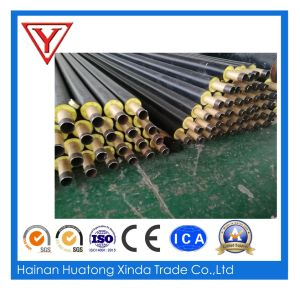Fiber Glass Wool Material Insulated Steel Pipe Jacket Steam Insulated Steel Pipe for Oil Steam pictures & photos