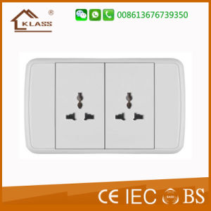 Saudi Arabia Saso Certificated 1gang Thailand Wall Switch Socket Outlet pictures & photos