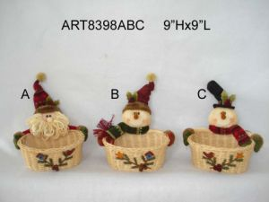 Top Hat Santa Snowman Christmas Gift -3asst pictures & photos