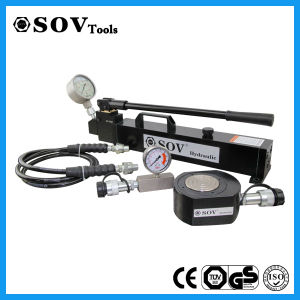 700 Bar Single Acting Flat Hydraulic Cylinder with Solid Steel pictures & photos