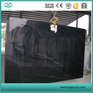 Honed/Polished/Brushed/Antique Black Nero Marquina Slabs and Tiles pictures & photos