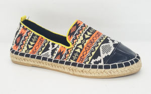Women′s Casual Canvas Espadrille Flat Shoes