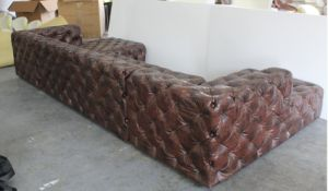 High End Big KTV Sofa, Button Leather Sofa, Classic L Shape Sofa Tde-03 pictures & photos