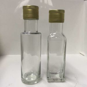 Clear 100 Ml Round Glass Bottles for Olive Oil