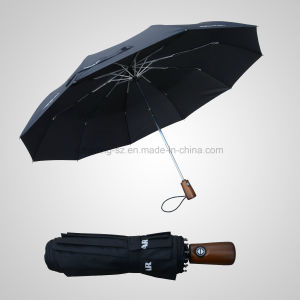 3 Fold Automatic Open&Close Golf Storm Umbrella (JF-AOC302) pictures & photos