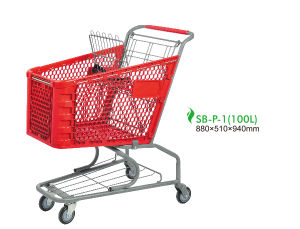 American Style Plastic Shopping Cart Trolley pictures & photos