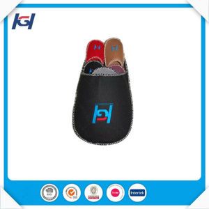 Cheap Felt Disposable Indoor Bathroom Guest Slippers pictures & photos