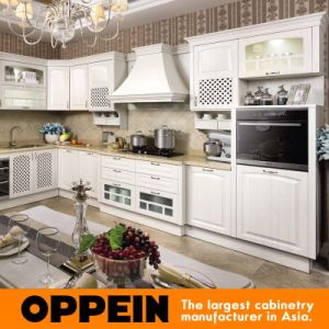 Hot Sale Euro High Gloss PVC Kitchen Cabinet (OP15-051) pictures & photos