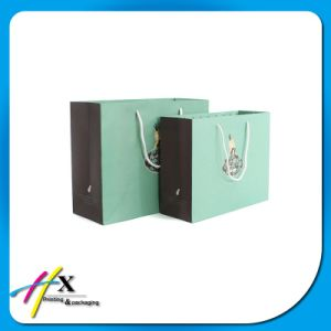 Simple Custom Paper Shopping Bag for Clothing pictures & photos