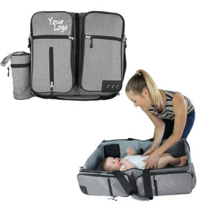 Polyester Baby Products Foldable Shoulder Diaper Bed Bag for Women/Men pictures & photos
