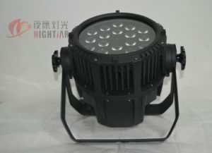 18*12W RGBW 4in1 LED Waterproof PAR Light Stage Light Event Wedding Outdoor Garden Lighting pictures & photos
