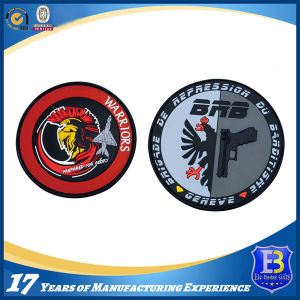 Custom Warriors Logo 3D Rubber PVC Patches pictures & photos