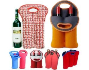 High Quality Neoprene Wine Bottle Holder with Customized Printing pictures & photos