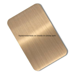201 304 316 Decorative Color Stainless Steel Sheet Plate with Hairline Finsh pictures & photos