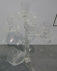 Clear Dendritic Glass Candle Holder with Five Posters pictures & photos