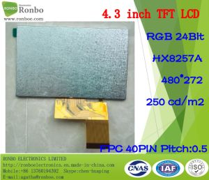 4.3 Inch 480*272 RGB 40pin 250nits Customized TFT LCD Panel pictures & photos