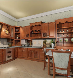 Classic Style Solid Wood Furniture Oak Wood Kitchen Cabinet pictures & photos