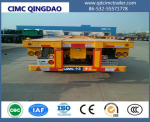 Cimc 20FT-45FT Sliding Chassis Container Trailer with Air Suspension Truck Chassis pictures & photos