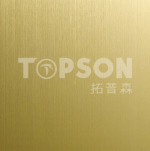 201 304 316 Metal Sheet Steel Product Stainless Steel Sheet with Hariline Colored for Decoration pictures & photos
