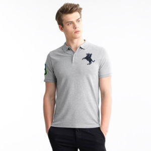 Men Polo Embroidery Tops Short Sleeves Brand Clothing Polo Shirt pictures & photos