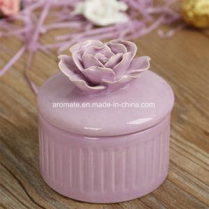 Round Ceramic Rose Jewelry Storage Box (CC-21) pictures & photos