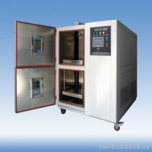 Three Chambers Air-Cooled Programmable Thermal Shock Test Chamber pictures & photos