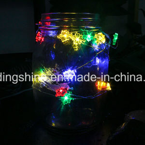 Leaf Shape Battery Powered String Silver Wire Fairy Lights Christmas Decoration Outdoor pictures & photos