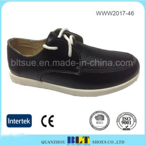 Hot Selling High Quality Leather Upper Lady Flat Shoes pictures & photos