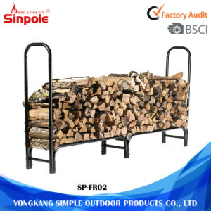 High-Quality Room Saving Metal Firewood Storage Rack pictures & photos