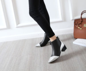 New Style Autumn Block Heel Metallic Color Ankle Boots (YX-3) pictures & photos