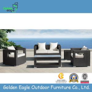 UV Resistant PE Rattan Furniture, 4PCS Simple Sofa