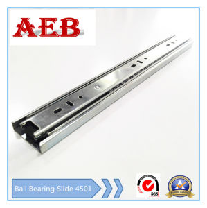 2017Furniture Customized Cold Rolled Steel Three Knots Linear for Aeb4501-400mm Full Extension Ball Bearing Drawer Slide pictures & photos