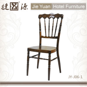 Wood Finished Hotel Metal Napoleon Banquet Chair (JY-J06-1) pictures & photos