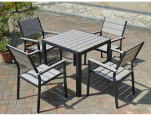 Patio Outdoor Furniture Aluminum Starback Home Hotel Office Polywood Arm Chair and Table (J806) pictures & photos