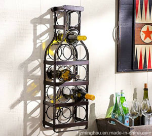 Unique Metal Wine Bottle Holder for Display Rack Storage Furniture pictures & photos