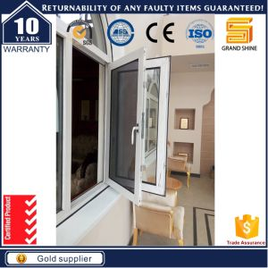 Australia Standard Luxury Aluminum Casement Window with Flyscreen pictures & photos