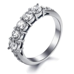 Rhinestone Diamond Fashion Designer Woman Rings Stainless Steel Jewelry pictures & photos