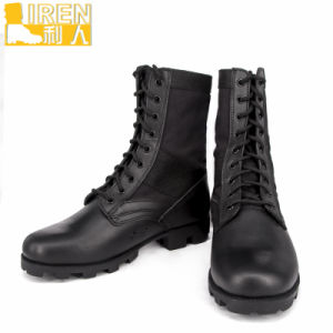 Goodyear Welt Black Cheap Military Jungle Boots pictures & photos