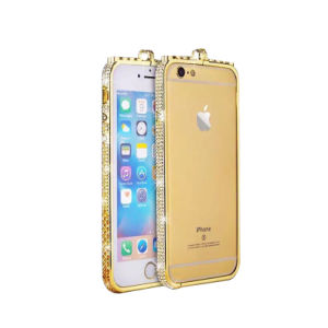 Middle Frame Bumper Cover with Diamond for iPhone 7 pictures & photos