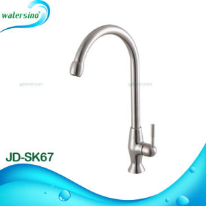 High Quality Single Cold Kitchen Faucet with Elegant Design pictures & photos