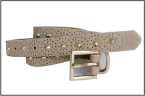 Grey Cut out Design Belt with Gold Stud pictures & photos
