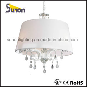 White Drum Shade Crystal Chandelier Pendant Lamp pictures & photos